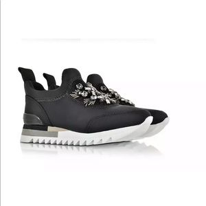 Tory Burch Rosas Crystal Embellished Sneaker Black